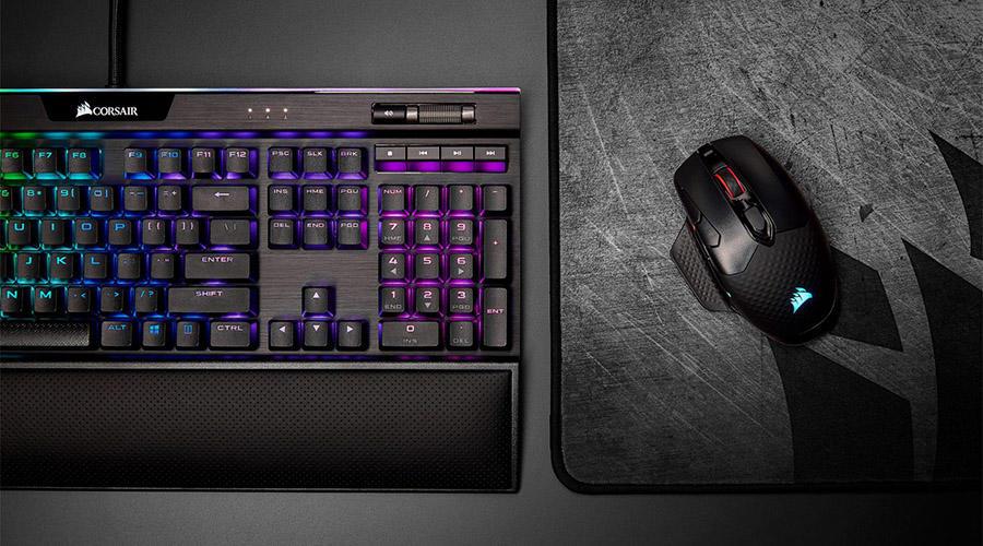 صفحه کلید مخصوص بازی کورسیر مدل Strafe RGB MK2