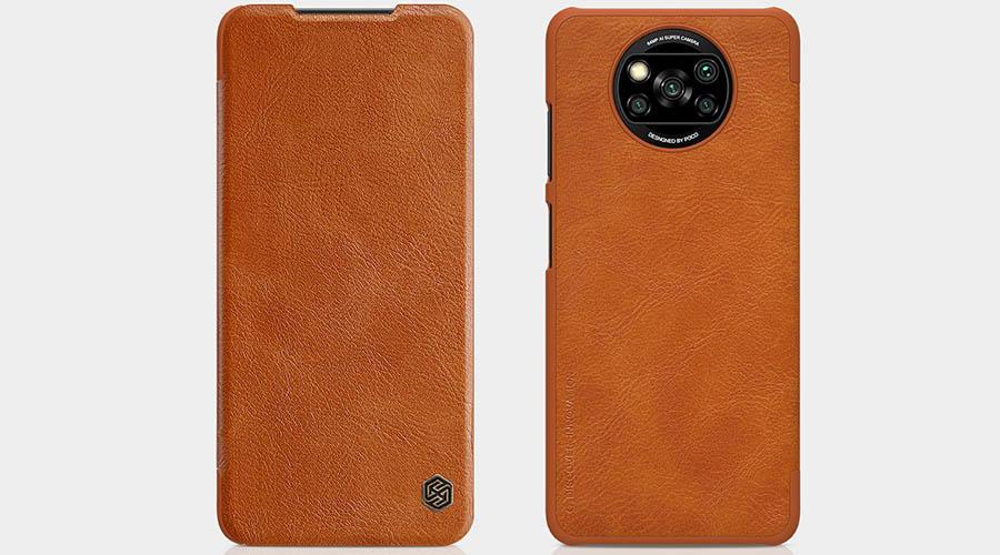 کیف کلاسوری چرمی نیلکین مدل qin برای Poco X3 NFC