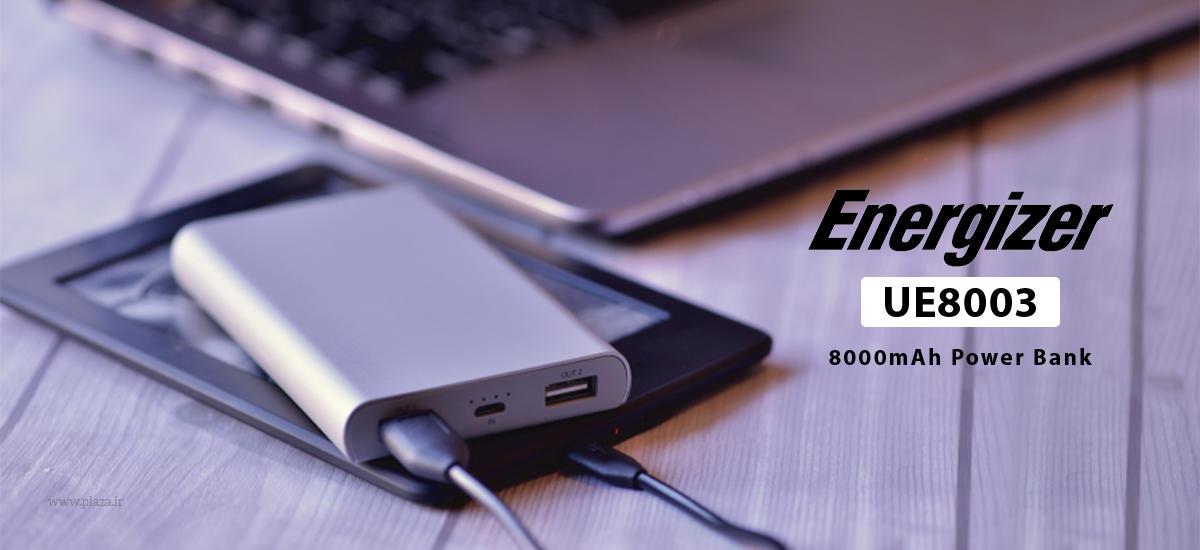 پاور بانک انرجایزر مدل UE8003 ظرفیت 8000 میلی آمپر ساعت