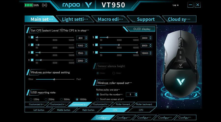 ماوس گیمینگ رپو مدل VT950