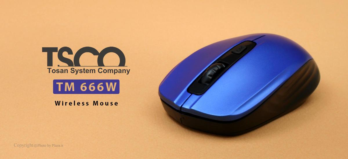 ماوس بی سیم تسکو مدل  TM 666W